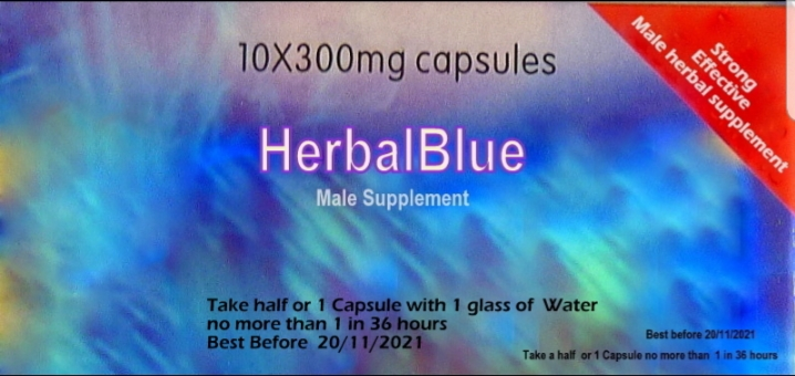 HerbalBlue  10 Priority Male Capsules.